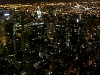 Night view from Empire State Bldg. North-East