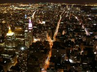 Night view from Empire State Bldg. South