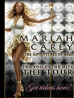 Mariah Carey The Adventure of Mimi tour banner